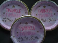 Twinkle Twinkle Little Star Themed Baby Shower or Birthday Party; Pink & Blue Twinkle Twinkle Tableware; Prince or Princess Theme Decoration by SimplyCreatedForYou6 on Etsy