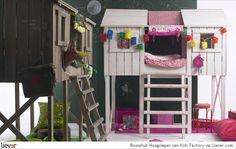Boomhut Hoogslaper - Kids Factory - design marjan godrie - bedden - accessoires