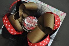San Francisco 49ers Bottle Cap Bow by threepeasboutique on Etsy, $7.50