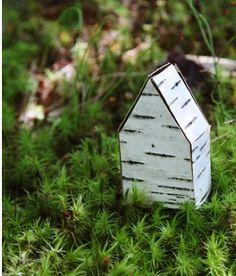 DiY Mini Birch Bark Houses