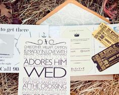 chris designed the invitations with an emphasis on typography as
