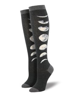 ea41e6112f7 Show your lunar love with our just a phase knee high socks. Fall Socks
