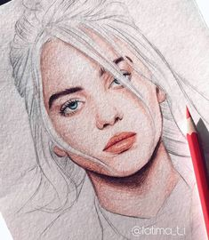 I'm a bad guy 💣 Some piece from my portrait of ⠀ by Art by Fatima ✨ Pencil Sketch Drawing, Face Sketch, Pencil Art Drawings, Cool Art Drawings, Art Drawings Sketches, Girl Face Drawing, Dibujos Cute, Billie Eilish, Art Day