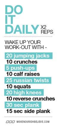 Wake up! daily workout