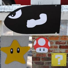 Super Mario Bro Decorations by inoli, via Flickr