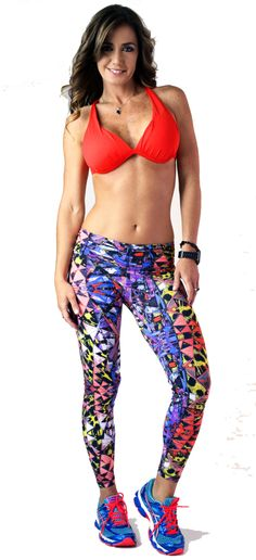 BOOTYFITS Bohno Fitwear Leggings Set Geometric - Bootyfits by Yanina Sportswear - Sexy Workout Clothes - Gym, Fitness, Athletic Wear, Women Exercise Clothing