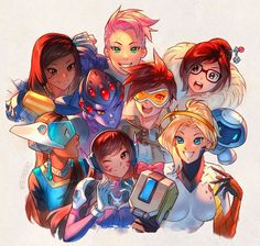All of the girls (Overwatch) - 9GAG