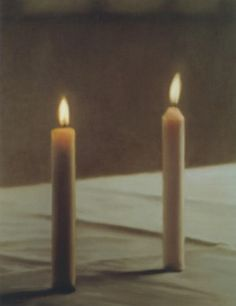 Two candles, Oil on canvas, Gerhard Richter, 124 cm x 99 cm, 1982.