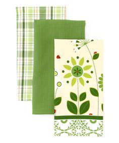 Take a look at this Garden Gate Dish Towel Set by Design Imports on #zulily today!