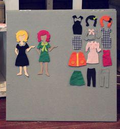 feltboard dress up dolls