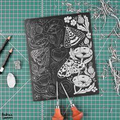 printmaking, printmaker, illustration, linocut, andrea lauren