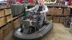 Colin Furze's Bumper Car with a CBR600 Motorcycle Engine