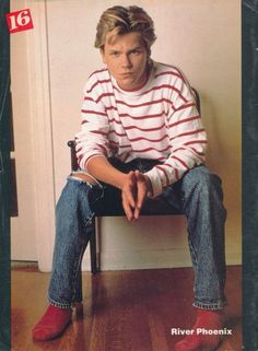 RIVER PHOENIX.  Loved this picture back then.