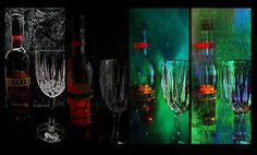 Progressive Effects Of Wine !!  | #mosaicmontagemonday #montage #collage #black #orange #green #blue