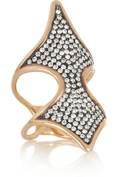 Diane Kordas | Shield 18-karat rose gold diamond ring | NET-A-PORTER.COM