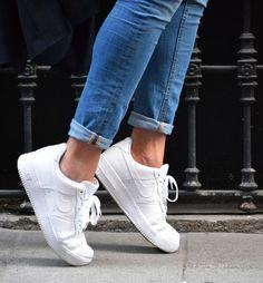 online store 36e65 bc6ad nike air force 1 mujer blancas - Buscar con Google Zapatos Nike Blancos,  Zapatillas Blancas