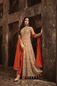 4fd60c481b ... a santoon inner and a banarsi silk bottom. A chiffon dupatta completes  the look. Embroidery work is completed with zari, thread, and stone.  WomenOracle