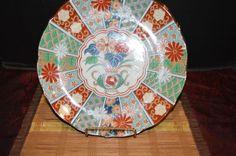 Arita Imari Fan Dinner Plate Japanese Porcelain Hand Painted Tableware #Arita