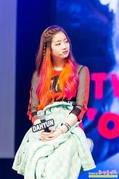 올 아이돌 닷컴 :: Twice Dahyun 쇼케이스 by 犧飛 part ① (? Dahyun is the Sehun of TWICE Kpop Girl Groups, Korean Girl Groups, Kpop Girls, Kpop Hair, Rapper, Twice Dahyun, Rainbow Hair, Dream Hair, Nayeon