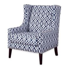 With a classic design that still bears a modern, Madison Park's Barton Wing Chair is a great addition to your living room. This chair has an updated print fabric pattern that looks wonderful with contrasting silver nail heads. Chair Bed, Bedroom Chair, Wing Chair, Chair Cushions, Master Bedroom, Fabric Chairs, Swivel Chair, Living Room Chairs, Living Room Furniture