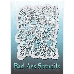 - Airbrush - Airbrush Stencils - Bad Ass Airbrush Face and Body Stencils - Bad Ass Stencils - Chatoic - Makeup Stencils, Cool Stencils, Large Stencils, Stencil Painting, Stenciling, Paint Stencils, Stencil Templates, Stencil Patterns, Airbrush Art
