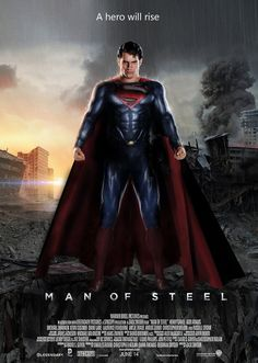 Movie Review: Man of Steel (2013)  http://www.moviefiednyc.com/2013/06/man-of-steel-review-by-george-bell.html Absolutely love it!!!! :)
