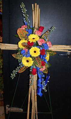 Sympathy Cross. Flower Factor
