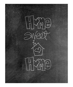 'Home Sweet Home' Chalkboard Print