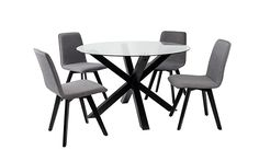Buy Winston Round Dining Table and 4 Chairs - Black from our Kitchen & Dining Room range today from George at ASDA. 4 Chair Dining Table, Round Dining Table, Dining Room, Amish Rocking Chairs, Black Metal Chairs, Accent Chair Set, Party Chairs, Upholstery Fabric For Chairs, Cheap Chairs