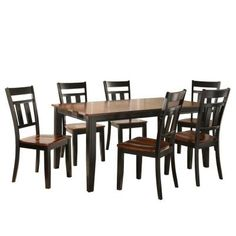 HD wallpapers cherry hill 7 piece dining set in rich cherry and black