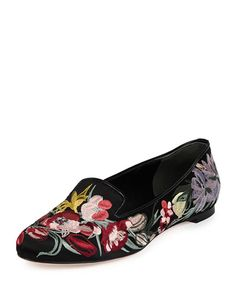 ea5946428fab S0C53 Alexander McQueen Floral-Embroidered Smoking Slipper
