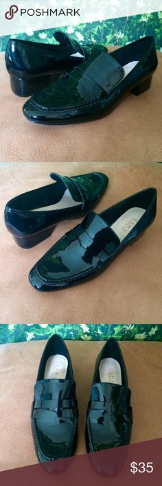 Patent Black Loafers These comfy loafers have only been worn twice. They are a clean style and heighten any look. Unfortunately they're just not my style! Realized that I'm not a loafers kinda gal💅🏽 Zara Shoes Flats & Loafers