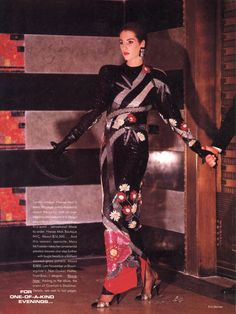 For One-of-a-Kind Evenings... Photo Eric Boman US Vogue November 1985
