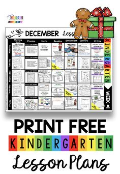 FREE Kindergarten Lesson Plans for December - Christmas printables - free math - reading - writing - math and literacy centers - opinion writing - addition and subtraction - narrative writing - morning work - phonics - reading comprehension sight words and more -  activities and printables for Pre-k  - transitional kindergarten and first grade - print a free curriculum map and editable lesson plans - TK - PK #kindergarten #firstgrade #kindergartenphonics #kindergartenreading #kindergartenmath