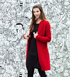 Big Knit Blanket, Jumbo Yarn, Diy Mode, Big Knits, String Bag, Knitted Bags, Knitting Designs, Cool Patterns, Crochet Clothes