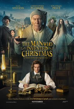"""THE MAN WHO INVENTED CHRISTMAS The journey that led to the creation of Ebenezer Scrooge (Christopher Plummer) and other classic characters from """"A Christmas Carol."""" The film shows how Charles Dickens (Dan Stevens) conjured up a timeless tale. Netflix Movies, Hd Movies, Movies Online, Movies And Tv Shows, Movies Free, 2017 Movies, Movie Tv, Film 2017, Films Hd"""