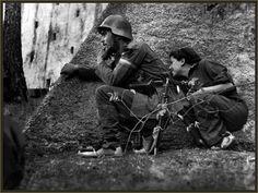 Photo: Gerda Taro during the battle of Brunete in 1936.