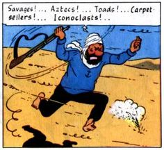 'Haddock seeks revenge, Crab with the Golden Claws p37' said blogger • Tintin, Herge j'aime
