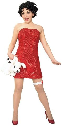 betty boop teen dress and wig costume