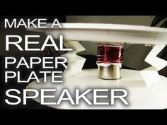 Here's how to make a real working paper plate speaker for under $1.00!    http://www.thekingofrandom.com