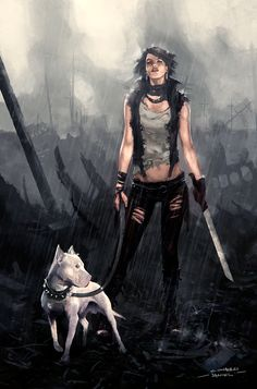 Post Apocalyptic Girl by hounworks.deviantart.com on @deviantART