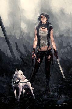 Post Apocalyptic Girl by hounworks.deviantart.com on @deviantART
