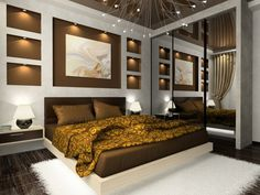 The bedroom painting interior design bedrooms room recessed lighting ...