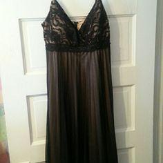 Black sheer and lace dress Black dress AGB Dresses Midi