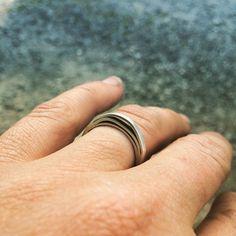 ORGANIC CIRCLE RING Metal Working, Rings For Men, Silver Rings, Organic, Jewelry, Men Rings, Jewlery, Metalworking, Jewerly