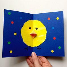 schaeresteipapier: Ostern - 1. Bastelidee mit Papier, eine Karte