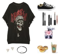 """""""Starbucks day out"""" by pi3rceth3ari ❤ liked on Polyvore featuring R13, Converse, Burberry, Lancôme, Adina Reyter and Alex and Ani"""