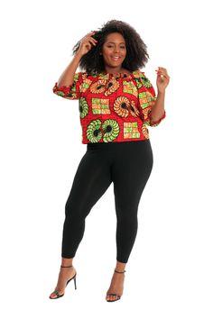 African Print Pants, African Print Fashion, African Fashion Dresses, Fashion Prints, Bohemian Tops, African Fabric, Women's Tops, Slow Fashion, Ankara