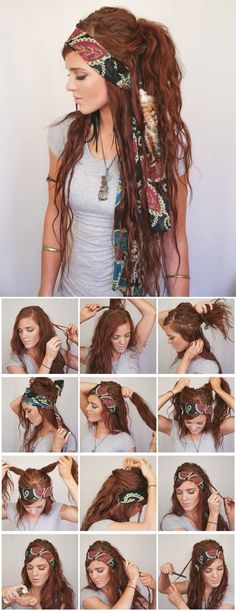 boho hairstyle2  visit way more natural boho fashion at https://naturaledgestyle.com