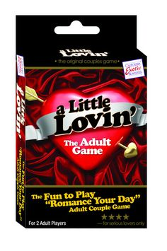 A Little Lovin' Game - A Little Lovin Game The Fun To Play Romance Your Day Adult Couples Game. Spice up your love life with this fun couples game that opens the door for both sex and romance. Fun Couple Games, Fun Games, Adult Party Games, Adult Games, Bedroom Games, Couple Romance, Online Games, Best Part Of Me, Spice Things Up